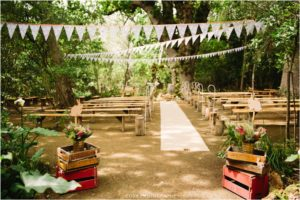 Forest ceremony decor