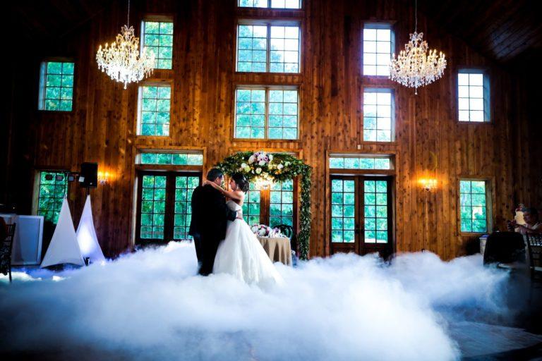 Ground fog wedding dance