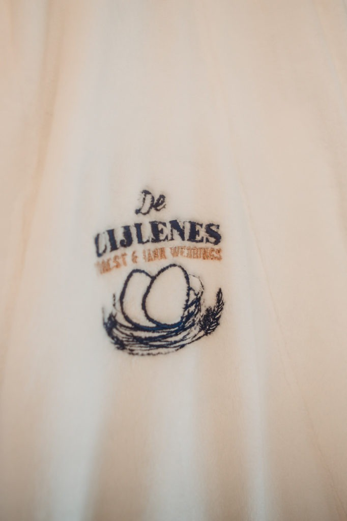 Logo on gown