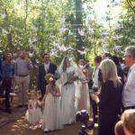 Bride walking down aisel